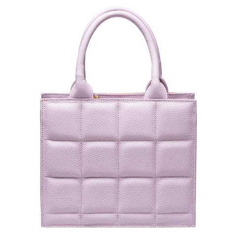 LEVE LILAC LEATHER  TOTE BAG - www.marlafiji.com