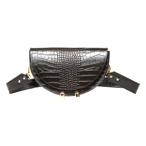 Lin Black Saddle Bag