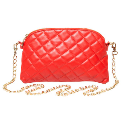 LUCKY RED QUILTED CROSS-BODY BAG - www.marlafiji.com