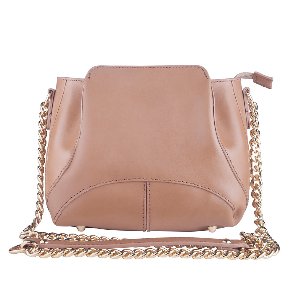 MILLS FUDGE ITALIAN LEATHER SHOULDER BAG