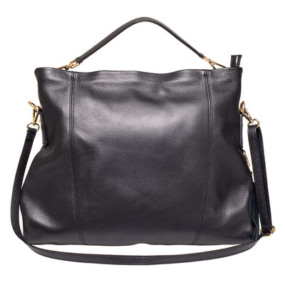 NIGELLA BLACK LEATHER  SHOULDER BAG