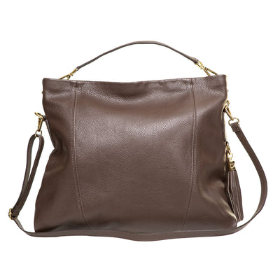 NIGELLA CHOCOLATE LEATHER  SHOULDER BAG - www.marlafiji.com