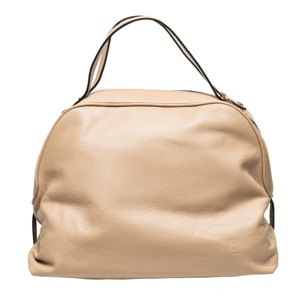 PAT BEIGE LEATHER DOME BAG - www.marlafiji.com