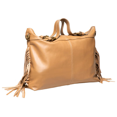 PEG TAUPE ITALIAN LEATHER SATCHEL