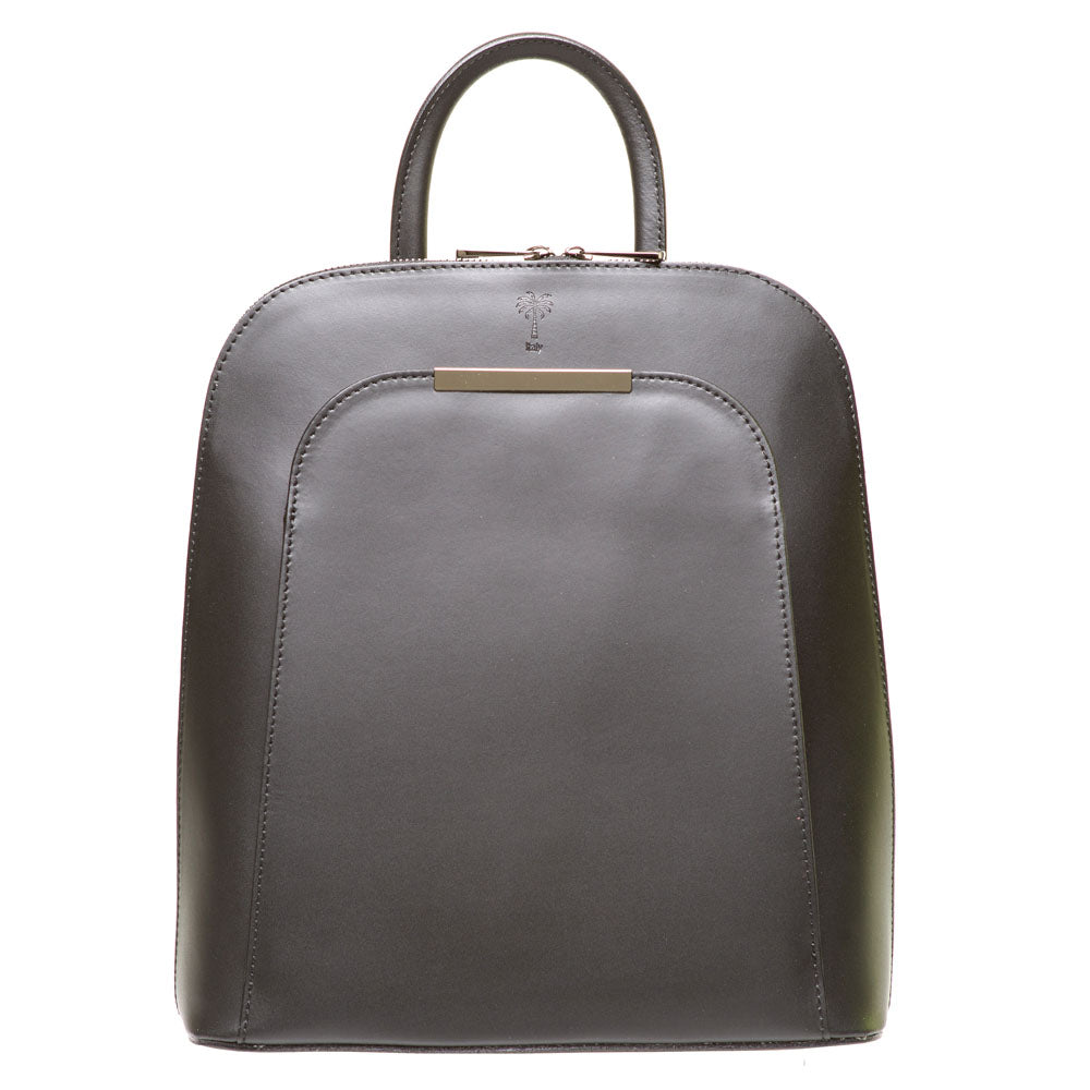 PHOENIX BLACK UNISEX LEATHER BACKPACK - www.marlafiji.com
