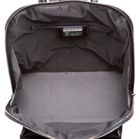 PHOENIX BLACK UNISEX LEATHER BACKPACK