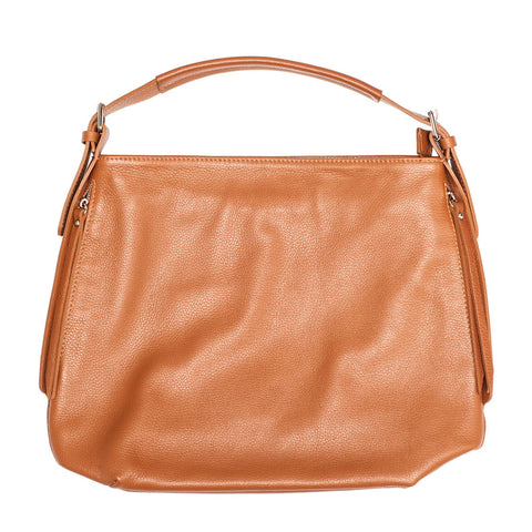 SAMANTHA COGNAC LEATHER SHOULDER BAG - www.marlafiji.com