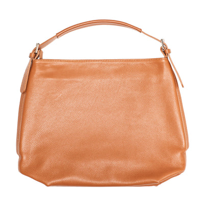 SAMANTHA COGNAC LEATHER SHOULDER BAG