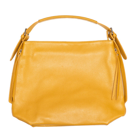 SAMANTHA MUSTARD LEATHER SHOULDER BAG