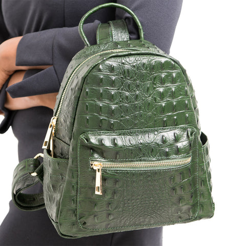 SANDERINE JADE UNISEX CROC EFFECT BACKPACK