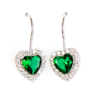 SARAH GREEN HEART EARRINGS - www.marlafiji.com