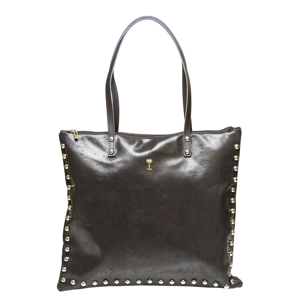 SU BLACK LEATHER SHOULDERBAG - www.marlafiji.com