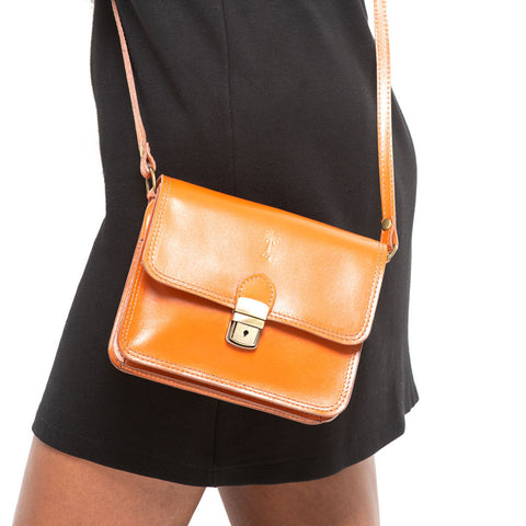 TAYLOR COGNAC CROSS- BODY BAG - www.marlafiji.com