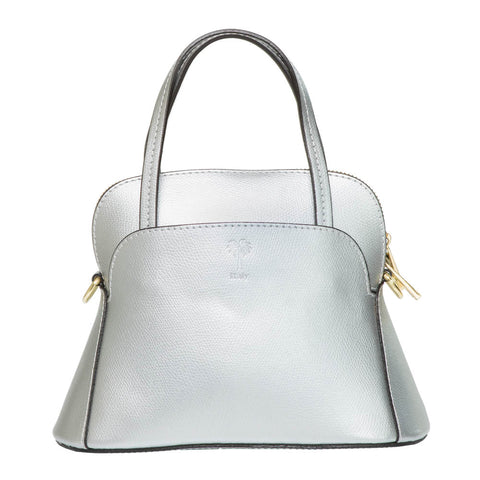 TOLLIE MINI SILVER LEATHER HANDBAG - www.marlafiji.com