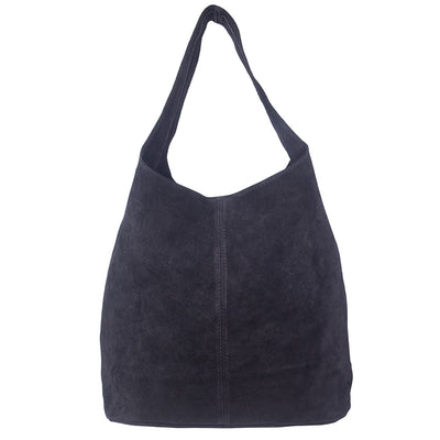 WENDY BLACK ITALIAN SUEDE HOBO