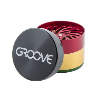 "Groove 4-Piece Metal Grinder - 2"" - Vape Society"