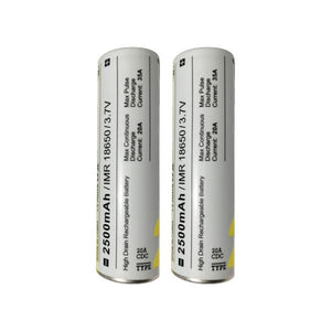 MXJO 18650 2500mAh Rechargeable 35A Battery – 2 Pack - Vape Society