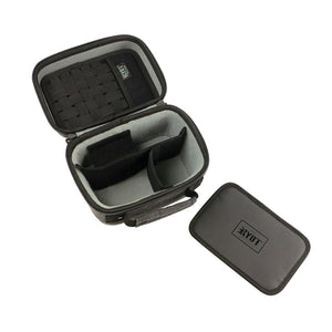 RYOT 2.3L Safe Case Small Carbon Series with SmellSafe and Lockable Technology in Black - Vape Society