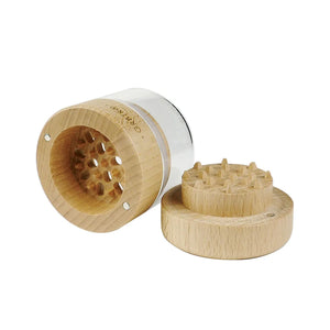 RYOT Wood GR8TR with Clear Jar Body and Beech Top - Vape Society