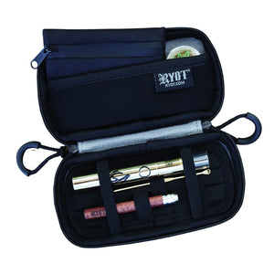 RYOT Slym Case Carbon Series with SmellSafe and Lockable Technology in Black - Vape Society