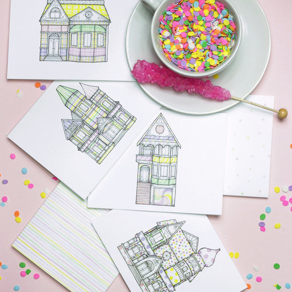 Candy Houses Card Set