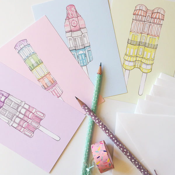 Popsicle Postcard Set
