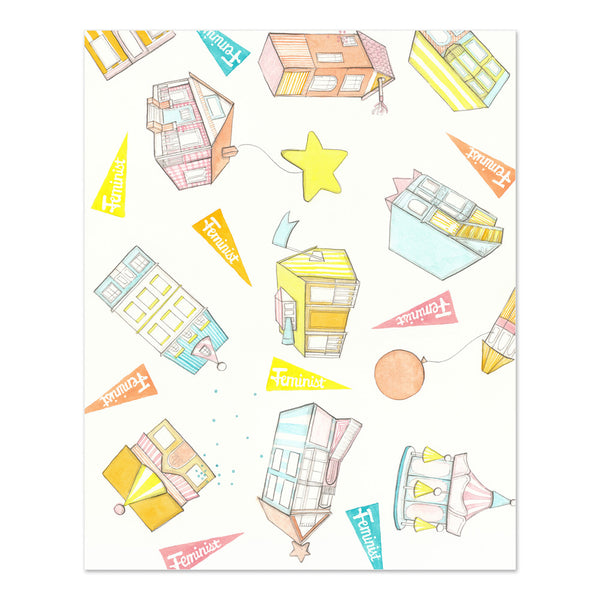 Party Houses Print
