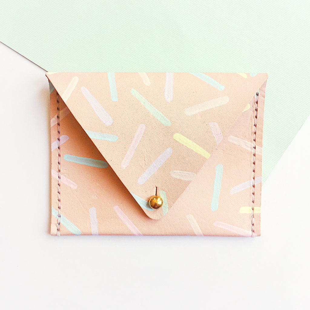 Sprinkles Leather Card Case