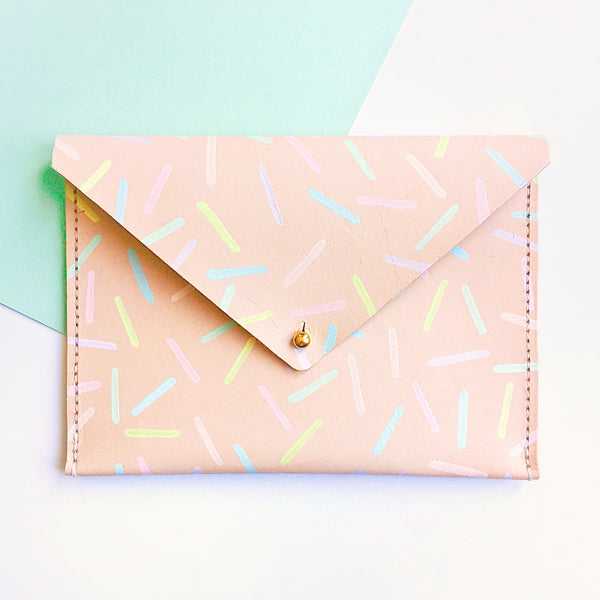 Sprinkles Leather Clutch