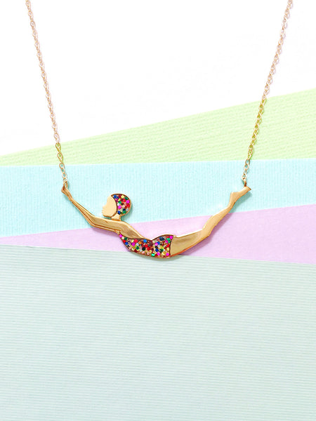 Glitter Diver Necklace