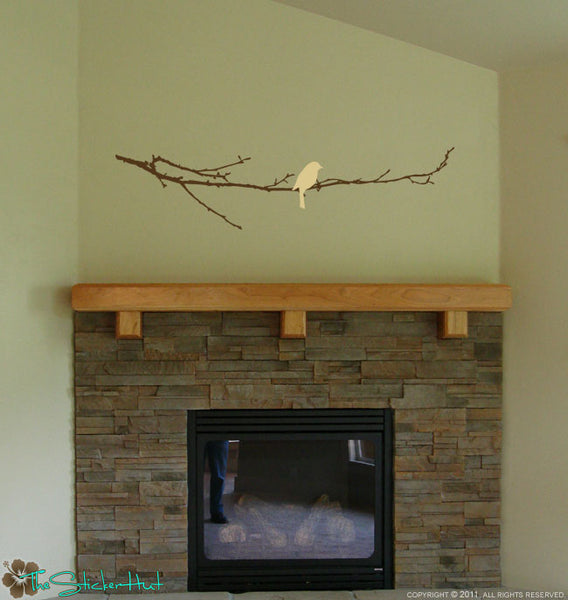Bare Branch with Bird Decal Sticker - #1082