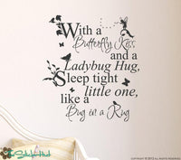 Fairy Tale With a Butterfly Kiss Sticky Vinyl Wall Accent Art Words Stickers Decals #1332