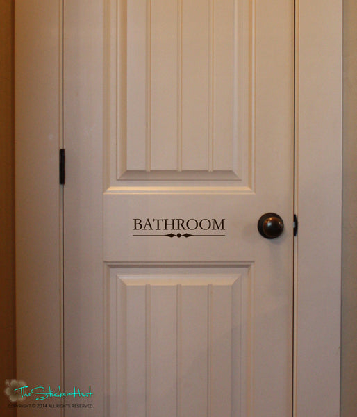 Bathroom Door Decal Sticker - #1615