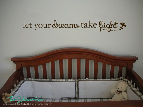 Let Your Dreams Take Flight with Plane Decal Sticker - #1711