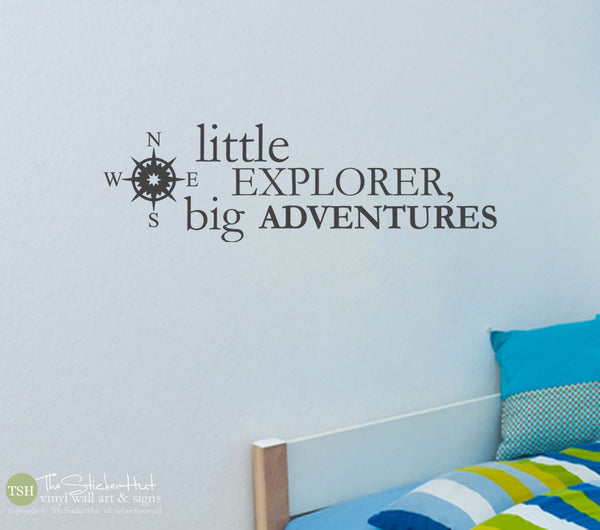 Little Explorer Big Adventures Decals Stickers -#1787