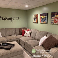 Welcome to our Movie Room Decal Sticker - #1804