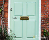 hello Front Door Vinyl Stickers Decals - #1810