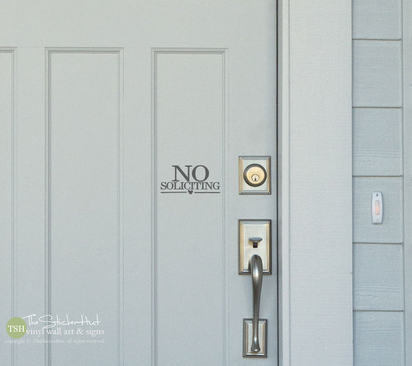 No Soliciting Decal Sticker - #1813
