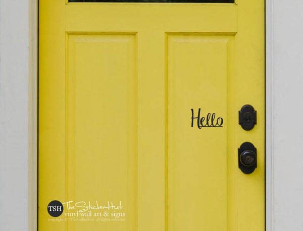 hello Front Door Stickers Decals - #1902