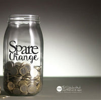 Spare Change Sticker Decal - #1922
