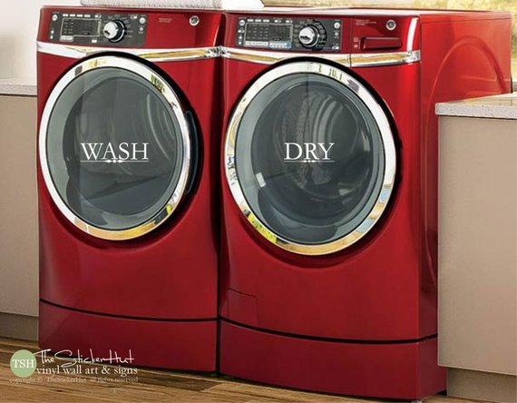 Wash Dry Vinyl Decal Sticker - #1933