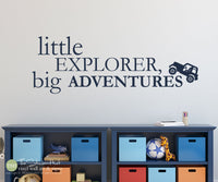 Little Explorer Big Adventures Jeep Decal Sticker - #1967