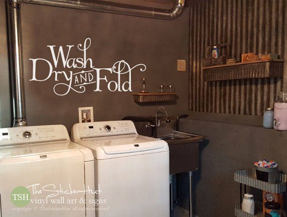 Wash Dry and Fold Vinyl Decal Sticker - #1993