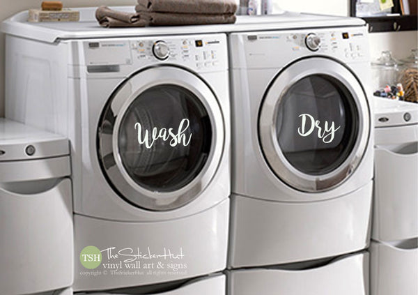 Wash Dry Laundry Decals Stickers - #1997