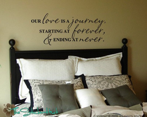 Our Love is a Journey, Starting at Forever, & Ending at Never Vinyl Decal Sticker - #491