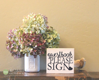 Guestbook Please Sign Wood Sign - M021
