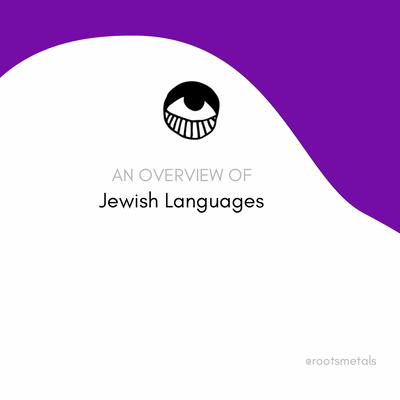 an overview of Jewish languages