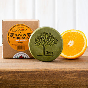 MORINGA SAVON ORANGE/ORANGE SOAP 100G