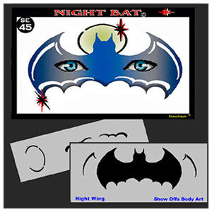 NIGHT BAT STENCIL 45SE