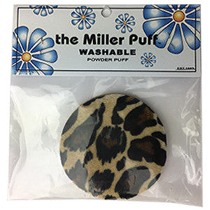 THE MILLER PUFF WASHABLE POWDER PUFF LEOPARD 9790